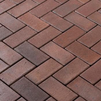 Клинкерная брусчатка Ferrara 200x100x52мм коричневый, Vandersanden