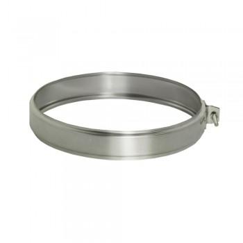 Хомут соединительный для труб D 115 мм, ДМК, нержавеющая сталь AISI 439 0,5 мм