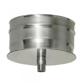 Конденсатосборник дымохода D 150 мм, ДМК, нержавеющая сталь AISI 439 0,5 мм