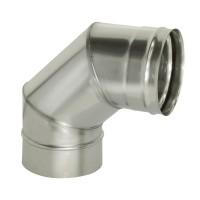 Отвод 90 градусов для трубы D120 AISI439 0,5мм