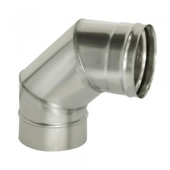 Отвод 90 градусов для трубы D 200 мм, ДМК, нержавеющая сталь AISI 439 0,5 мм
