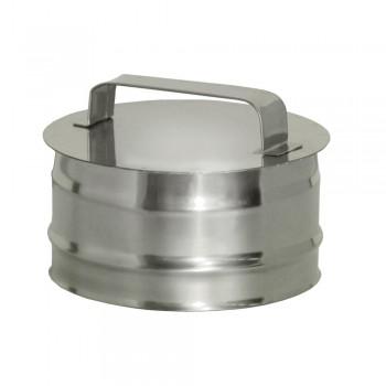 Ревизия дымохода D 120 мм, ДМК, нержавеющая сталь AISI 439 0,5 мм