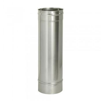 Труба 1000 мм D 150 мм для дымохода ДМК, нержавеющая сталь AISI 439 0,5 мм