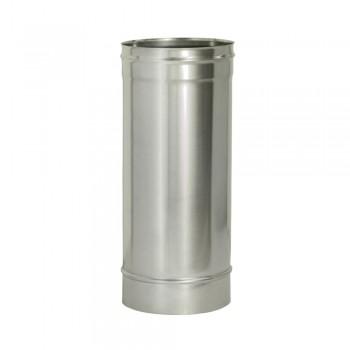 Труба 500 мм D 150 мм для дымохода ДМК, нержавеющая сталь AISI 439 0,5 мм