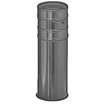 Напольный элемент с отводом конденсата (1000 мм) серый D 130/180 SCHIEDEL PERMETER 50