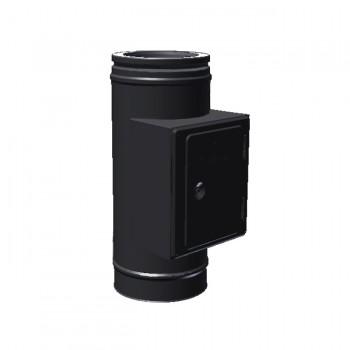 Тройник прочистки для твердого топлива черный D 200/250 SCHIEDEL PERMETER 50