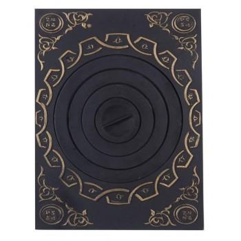 Плита под казан с рисунком с патиной ПК (01) , Технолит, Печное литье купить в Санкт-Петербурге,