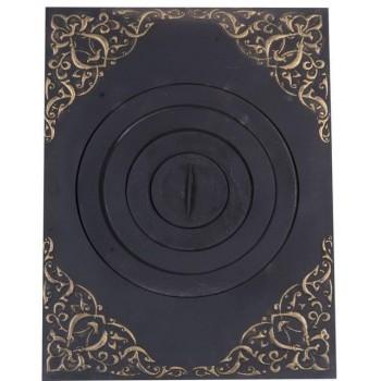 Плита под казан с рисунком с патиной ПК (04), Технолит, Печное литье купить в Санкт-Петербурге,