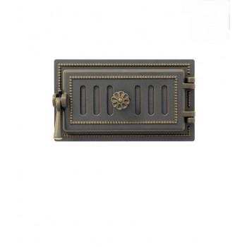 Дверца поддувальная В236Б, бронза, 185x320 мм, Везувий, Печное литье купить в Санкт-Петербурге,