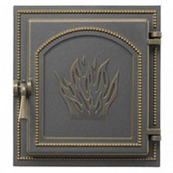 Дверца каминная В271Б, бронза, без стекла, Везувий, Печное литье купить в Санкт-Петербурге,