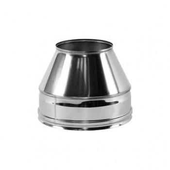 Конус на трубу дымохода сэндвич D 150/250 мм, изоляция 50 мм, нержавеющая сталь AISI 321/304