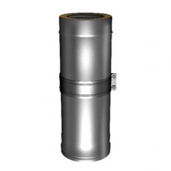 Труба телескопическая (сэндвич) 510-880 мм, D 120/220 мм, для дымохода , изоляция 50 мм, нержавеющая сталь AISI 321/304