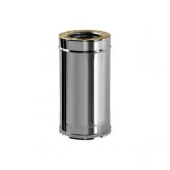 Труба (сэндвич) 500 мм, D 200/300 мм, для дымохода , изоляция 50 мм, нержавеющая сталь AISI 321/304