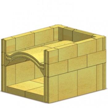 Комплект печи KaBOB 6090  без дверцы, камни N+F, Wölfshoher, Хлебопечи купить в Санкт-Петербурге,