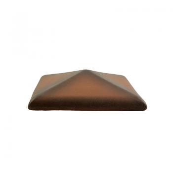 Колпак керамический С38 для столбика заборного, каштановый, ZG-Clinker, Благоустройство территории купить в Санкт-Петербурге,