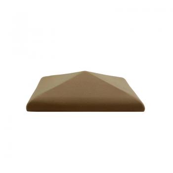 Колпак керамический С38 для столбика заборного, коричневый, ZG-Clinker, Благоустройство территории купить в Санкт-Петербурге,