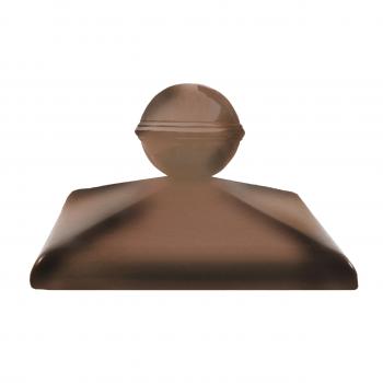 Клинкерный колпак ZG Clinker C57 ольха с шаром, 570х570 мм, для столба забора
